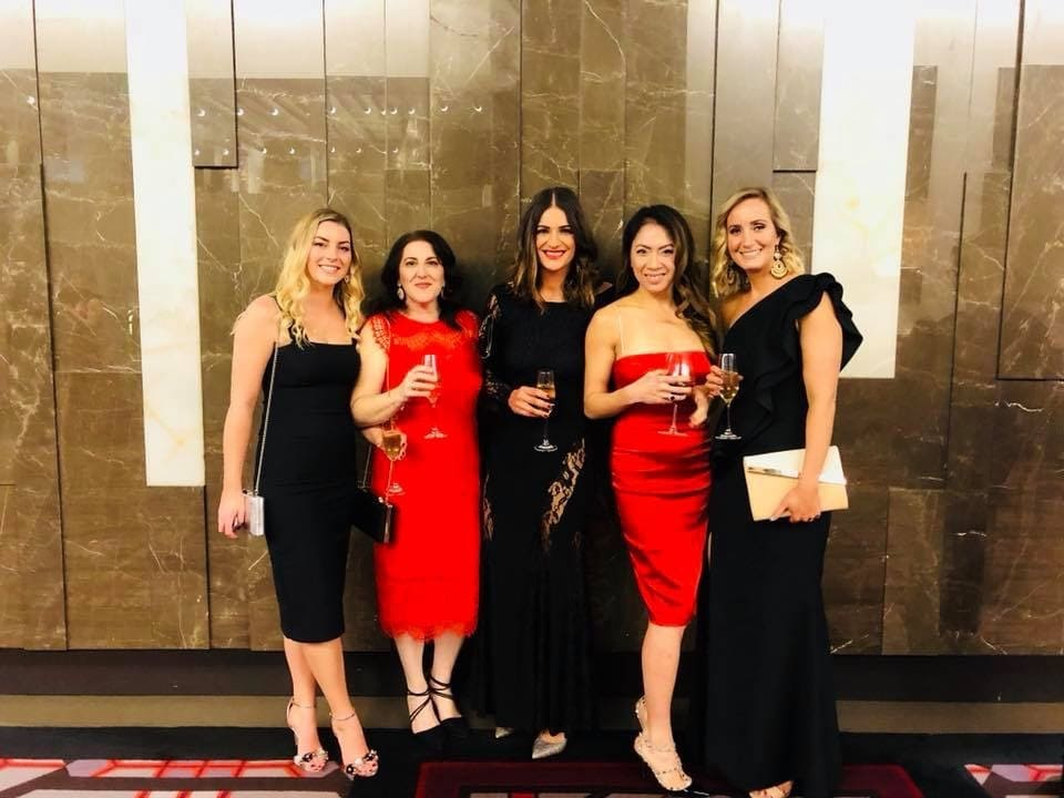 Team Alma at the Red Heart Winter Charity Ball, Perth WA.