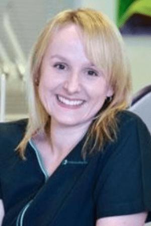 Portrait of dentist, Dr Margaret Szynaka BDS